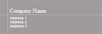 Grey Address Label Template